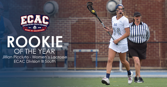 Picciuto Selected as 2016 ECAC DIII South Rookie of the Year