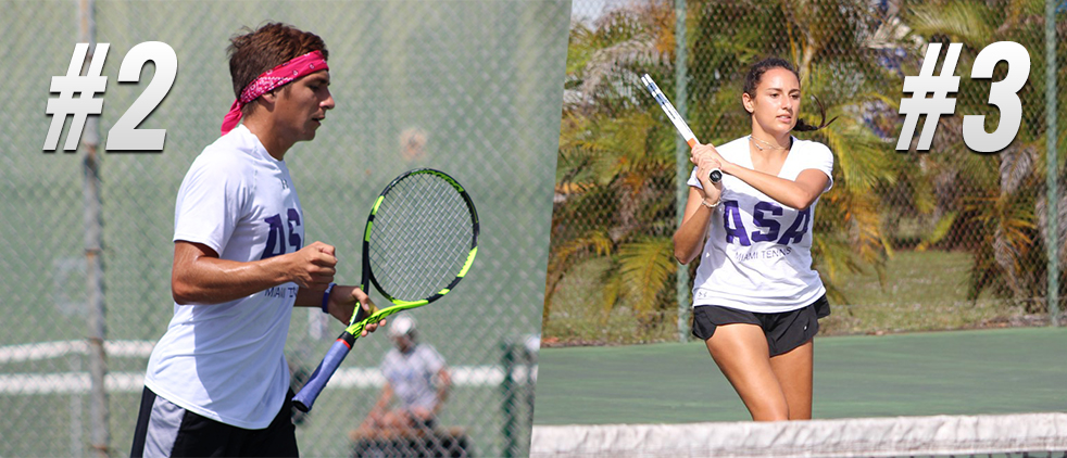 ASA Miami Tennis Men Stay at Two; Women Move Up to Three in Latest ITA Rankings