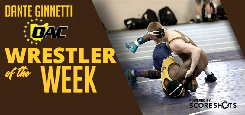 Ginnetti Garners First Career OAC Wrestler of the Week Accolade