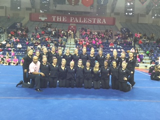 Purple Knights Take Top Spot At Four-Team Penn Women's Gymnastics Meet On Super Sunday