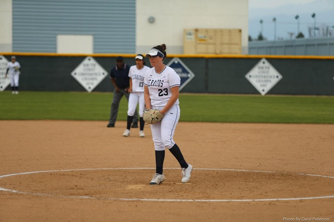 File Photo: Kristen Voller tossed a complete game for the Falcons