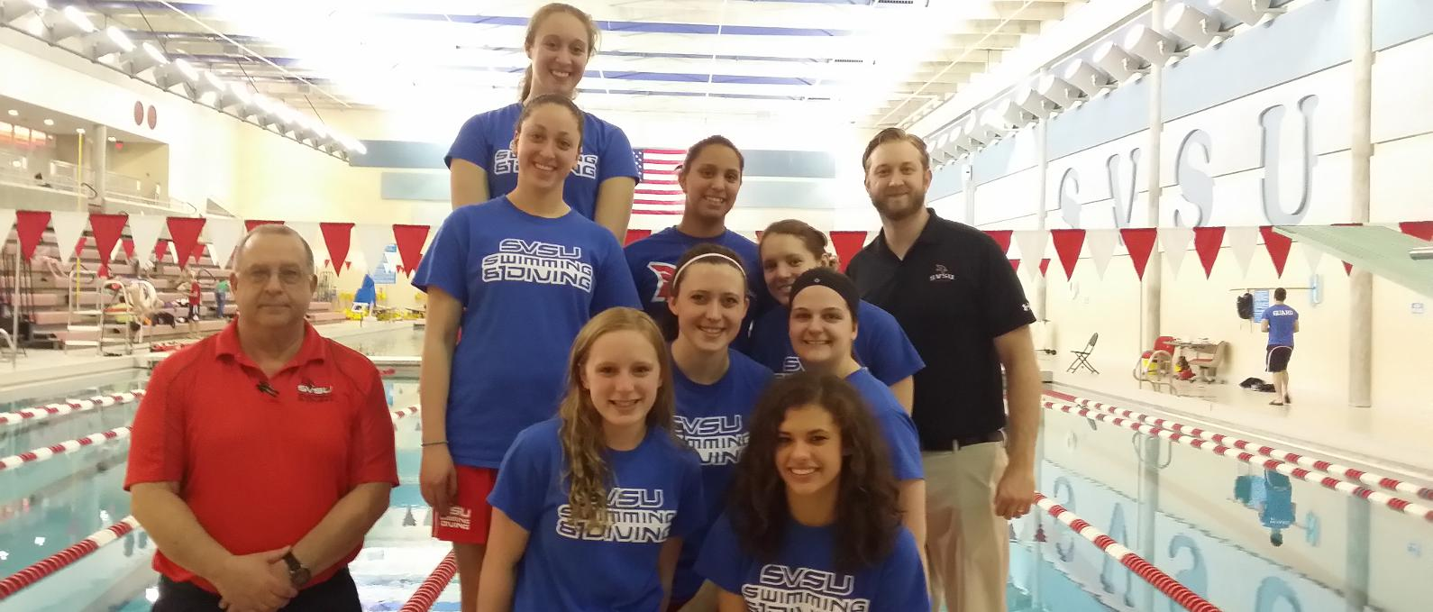 Women's Swimming & Diving Lends a Helping Hand at Special Olympics