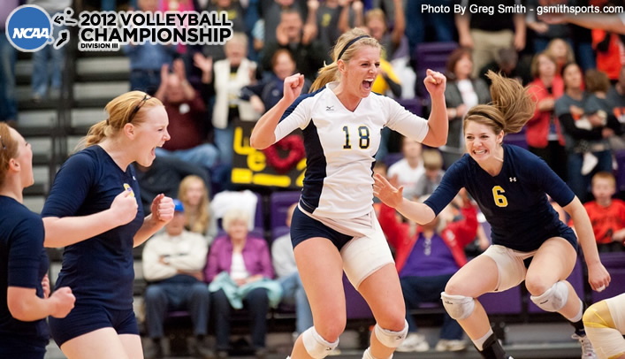 Volleyball Edges Wartburg in NCAA First Round