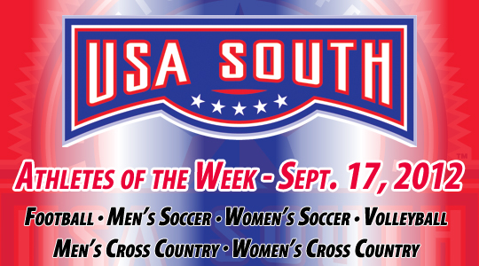 USA South Athletes of the Week - Sept. 17, 2012