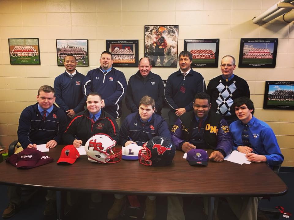 Five More Seniors Sign Football Letters of Intent