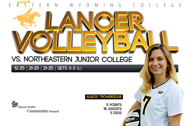 Eastern Wyoming College Lancer Volleyball vs. Northeastern Junior College