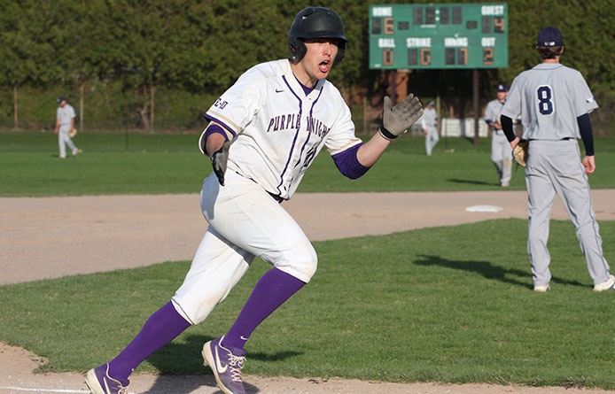 Giroux-Harvey's Seventh-Inning Homer Pushes Purple Knights Past Saint Anselm, 7-4