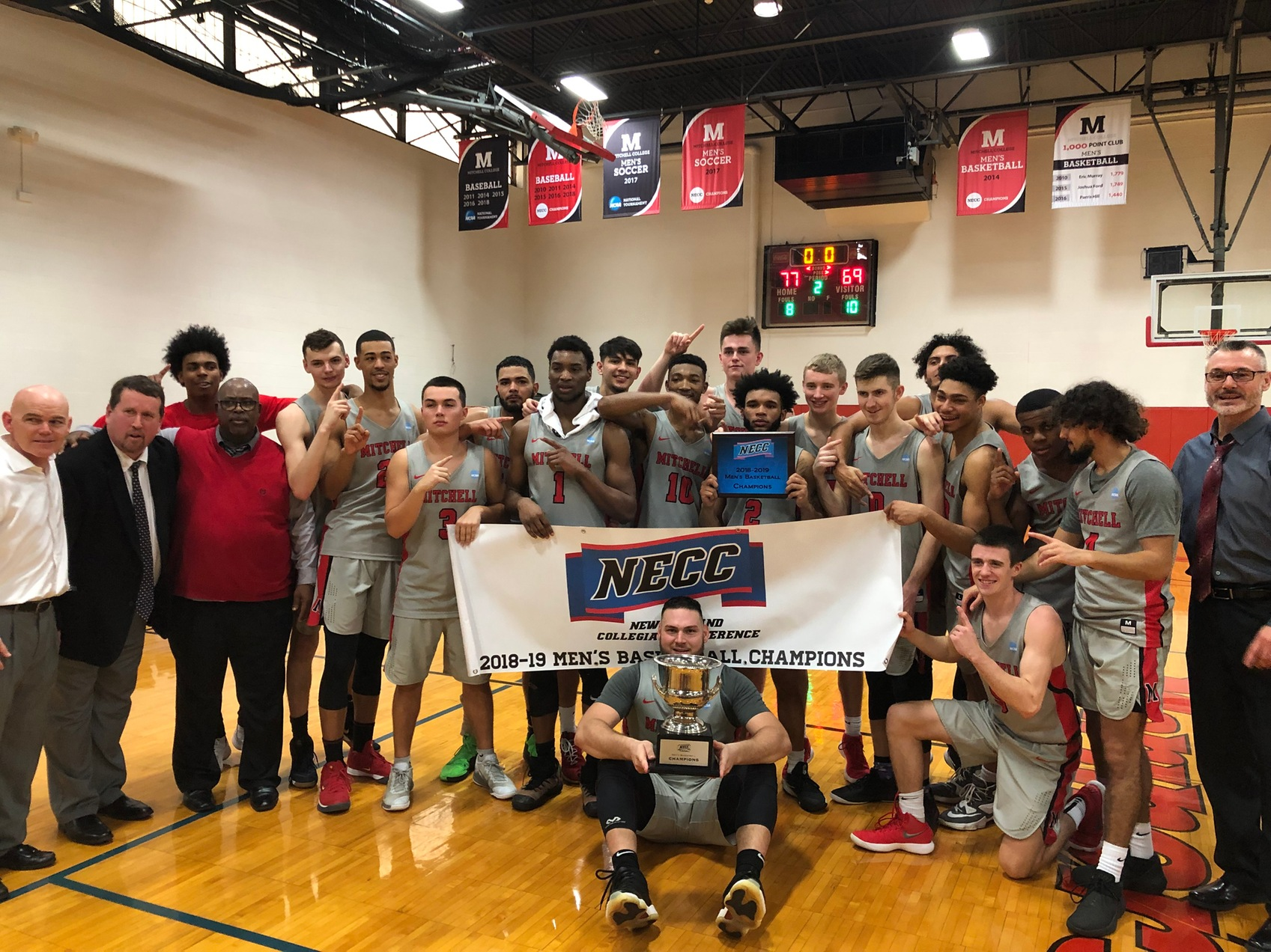 Mitchell Claims NECC Men's Basketball Title in OT Victory over Newbury