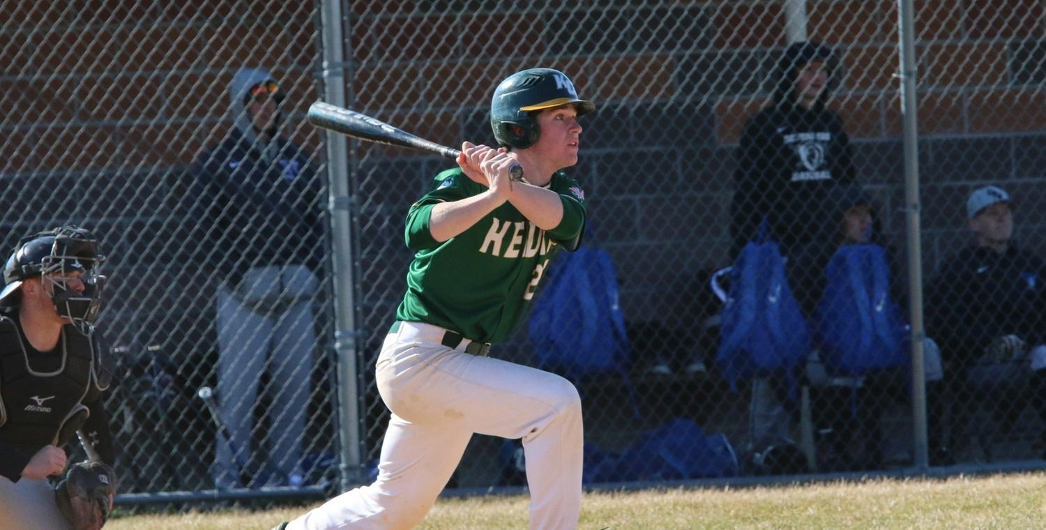 Ryan Seales (21) led Keuka College with three hits in game two -- Photo by Ed Webber
