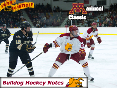 Weekly Notes Games 20-21: #18 Ferris State at Mariucci Classic