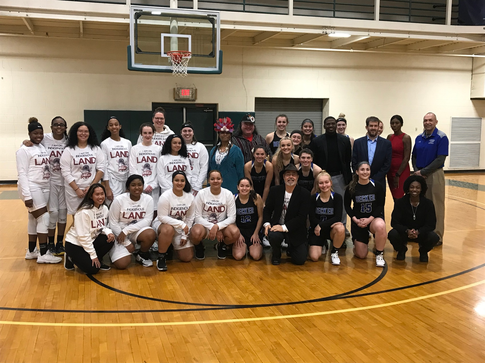 Women's Basketball Slips Against Becker In NECC Play at Land Acknowledgement Event