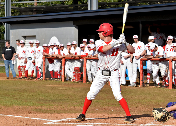 Garrett Breland was 5-for-6 with four RBIs, a triple and two doubles in Friday's win over Covenant.