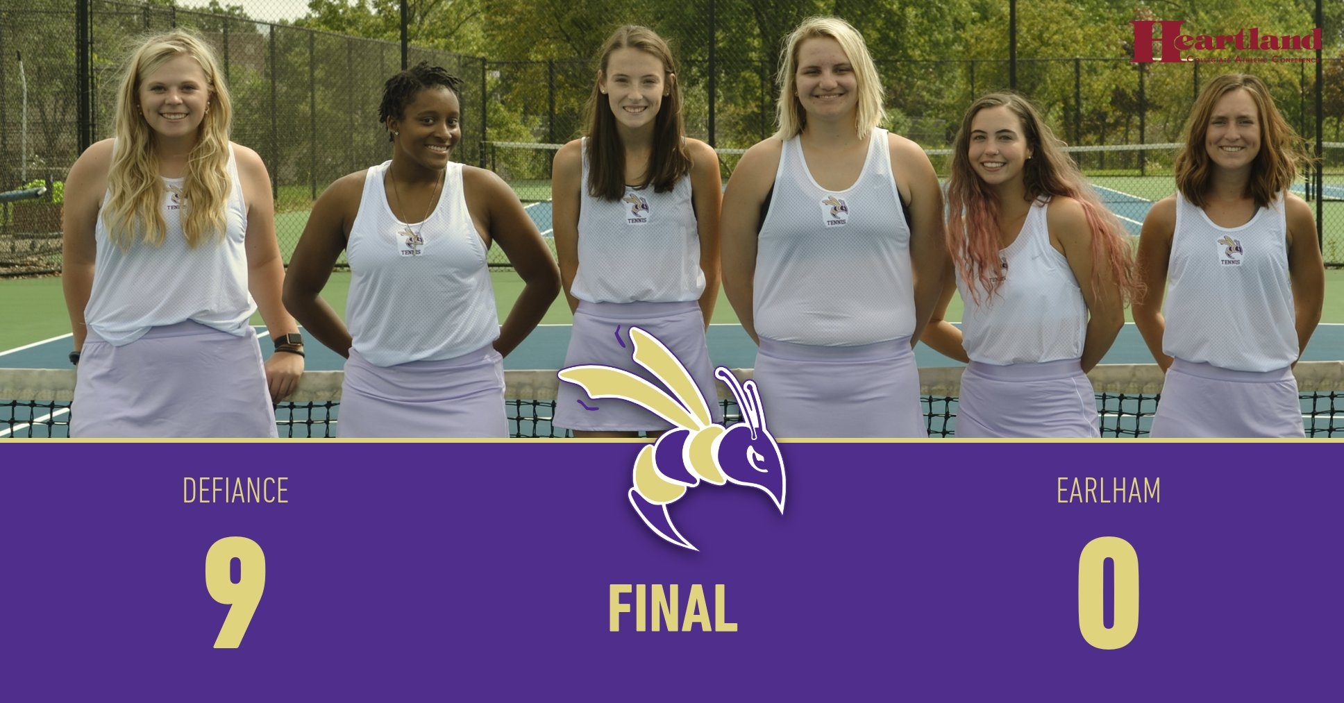 Women's Tennis Earns Midweek Sweep