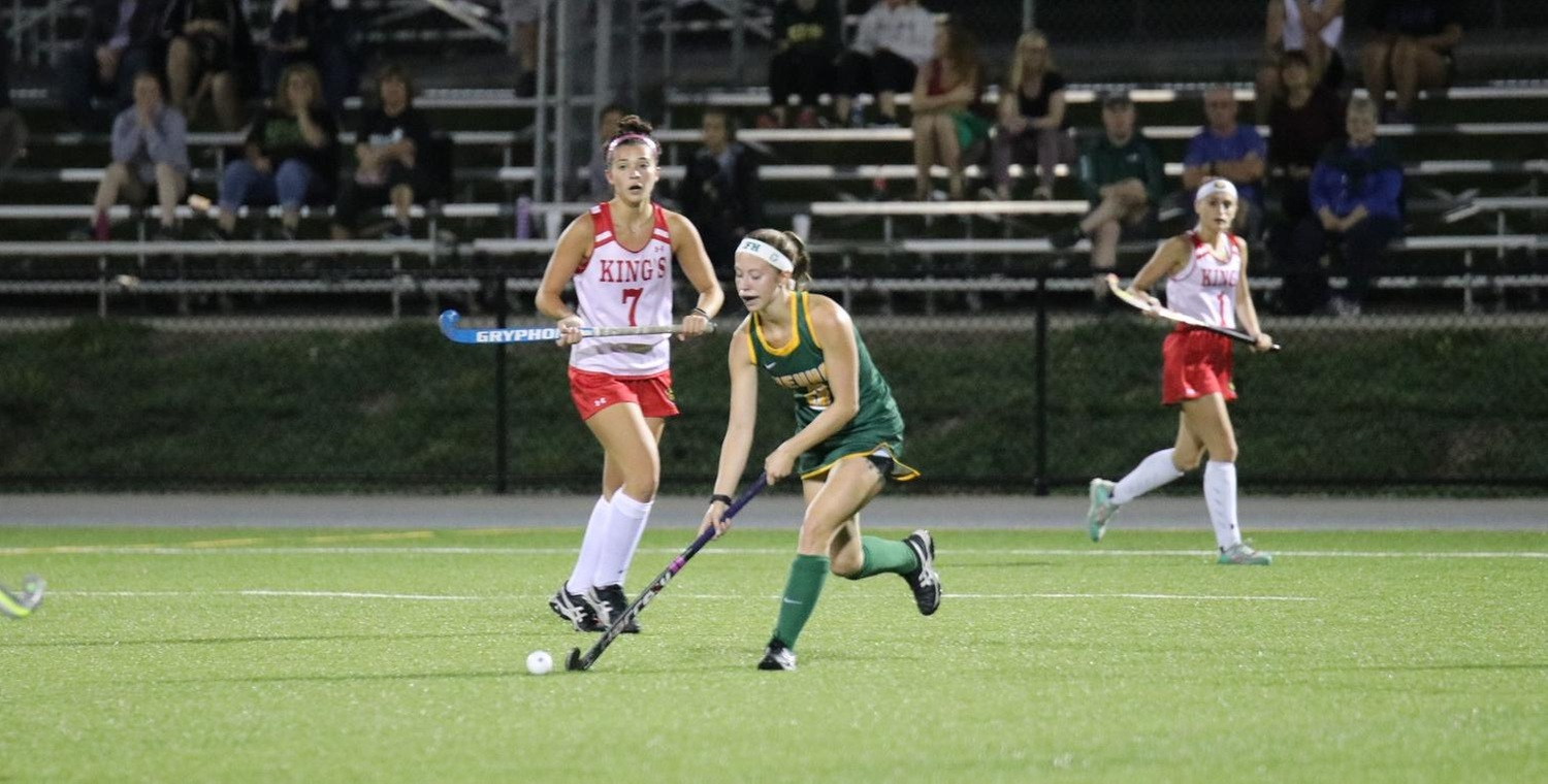 Taylor Lessard (5) scored for Keuka College on Wednesday -- Photo by Trinity Gotthardt