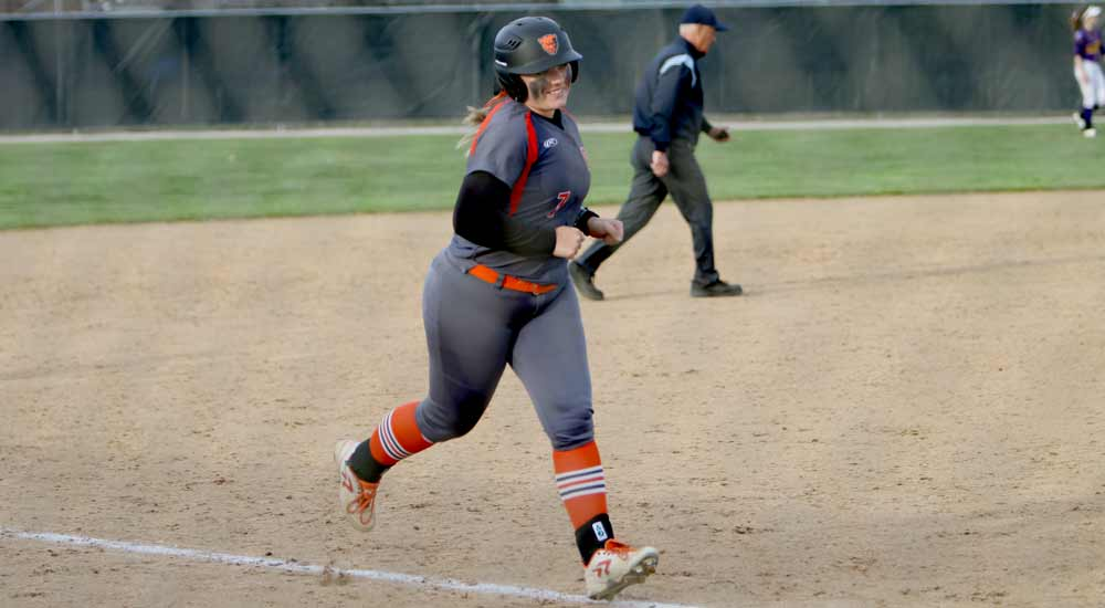 Softball records split in Eureka doubleheader
