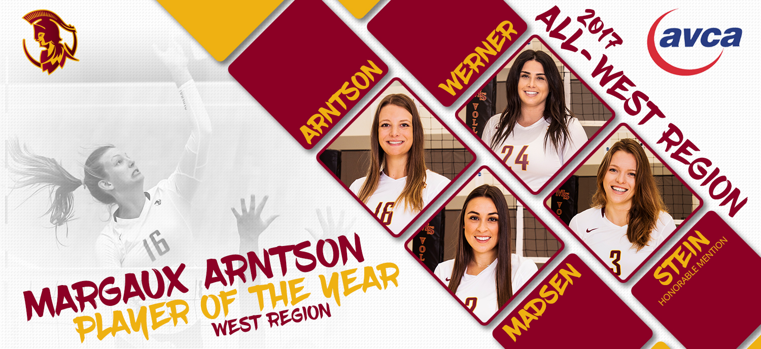 Arntson Named West Region Player of the Year, Three Others Earn Honors