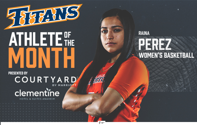 Perez Named Titans Student-Athlete of the Month