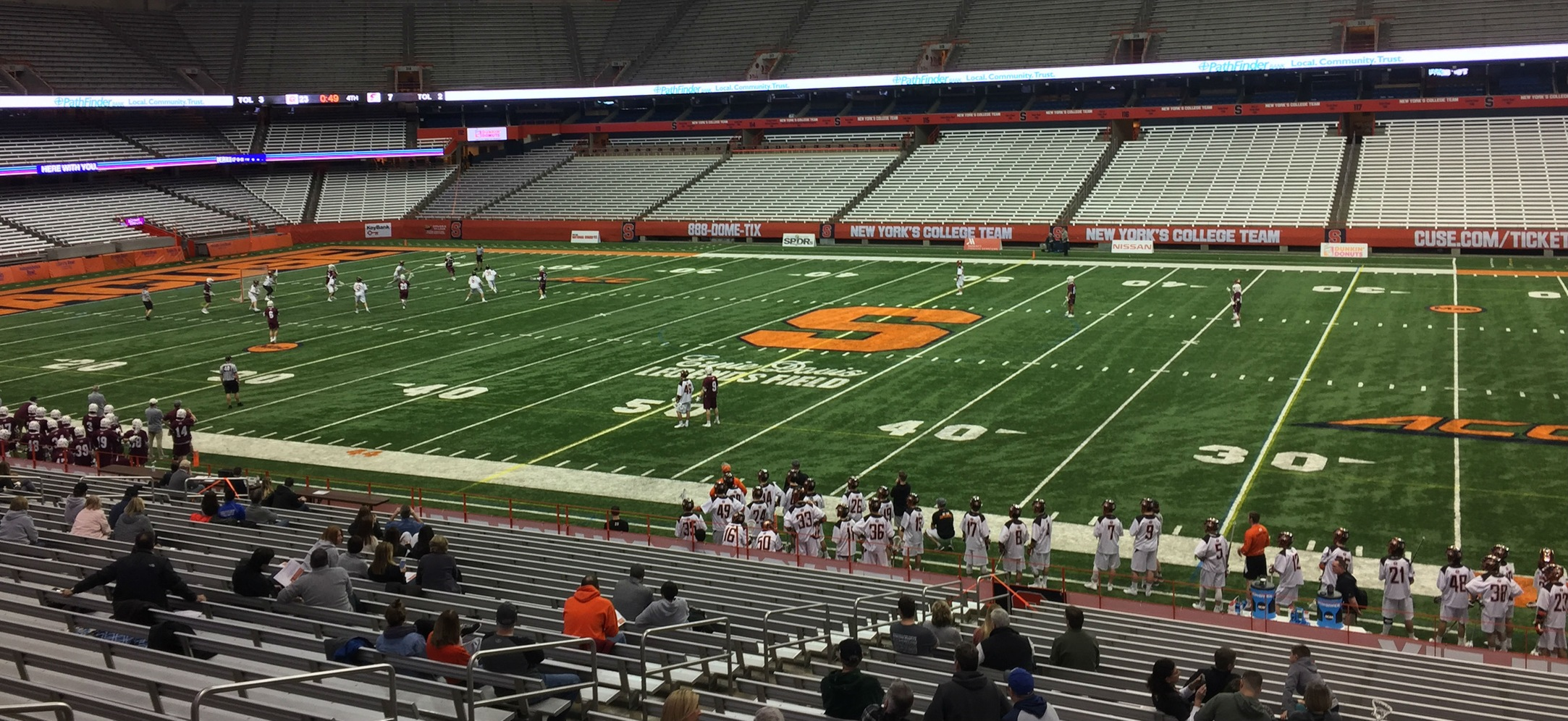 Men's Lacrosse Falls to Top-Ranked RIT, 23-7, in the Carrier Dome