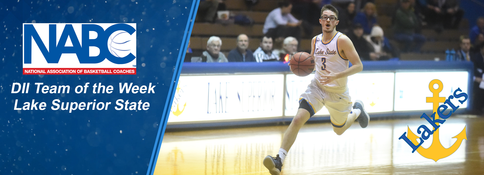 LSSU men's basketball is NABC DII Team of the Week