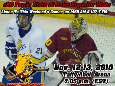 Nationally-Ranked Ferris State Hockey Visits Lake Superior State This Weekend