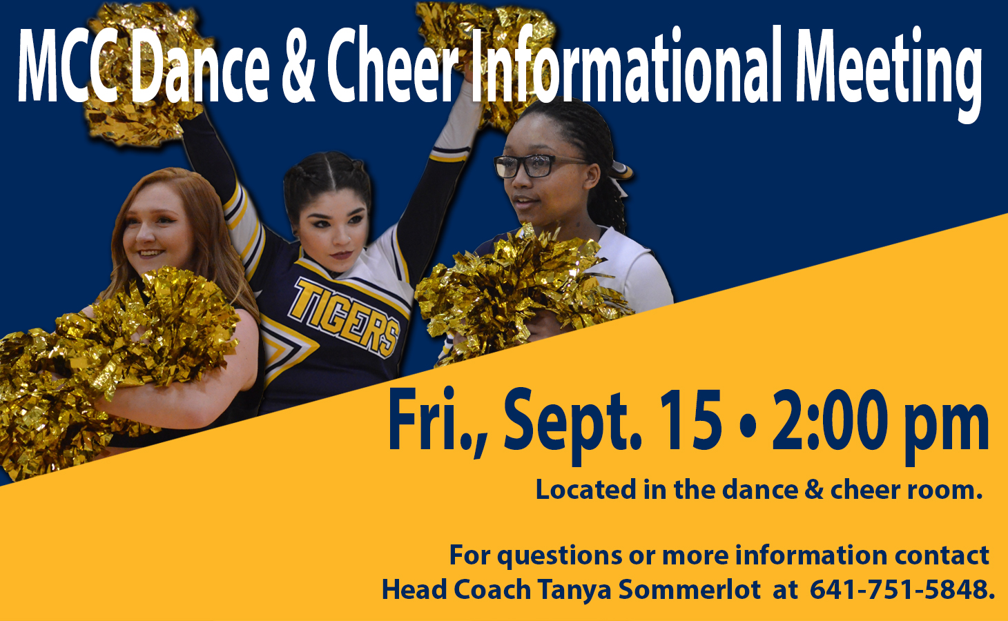 Informational MCC Dance and Cheer Meeting to be Held