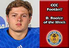 Erich Keutmann-Western New England, CCC Football: Defensive Rookie of the Week