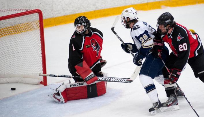 Men's Hockey Headed to Peters Cup Final with Win over Falcons