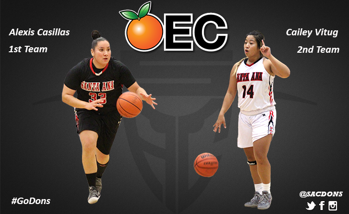Casillas and Vitug Earn OEC All-Conference Honors