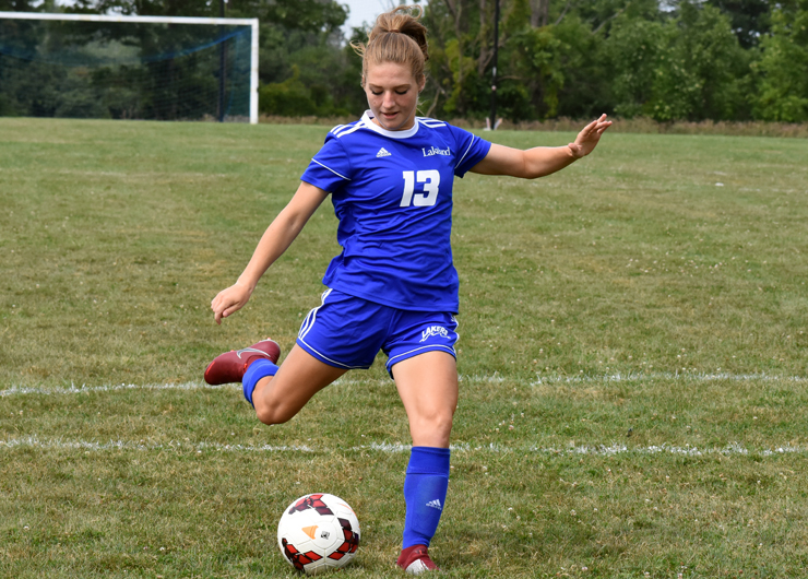 Lakeland unable to score in first ever women's soccer game against Lake Michigan, 3-0