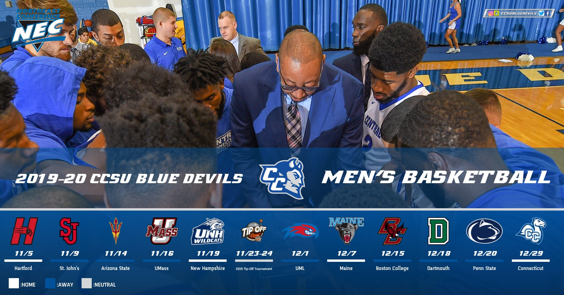 Men's Basketball Non-Conference Schedule Announced