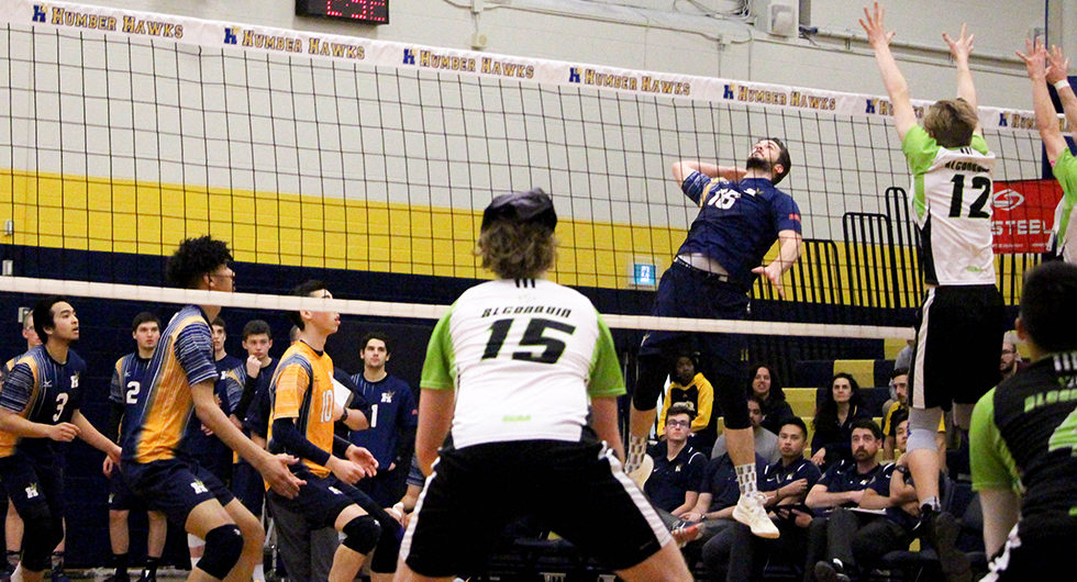 HAWKS SWEEP ALGONQUIN AND ADVANCE TO OCAA CHAMPIONSHIPS