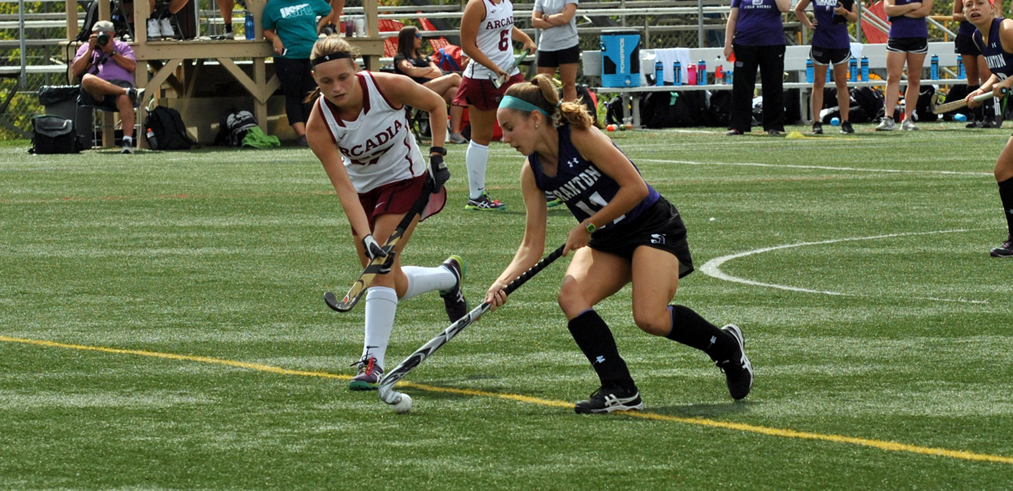 Megan Gallagher has been honored as the Landmark Conference Offensive Athlete of the Week for field hockey.