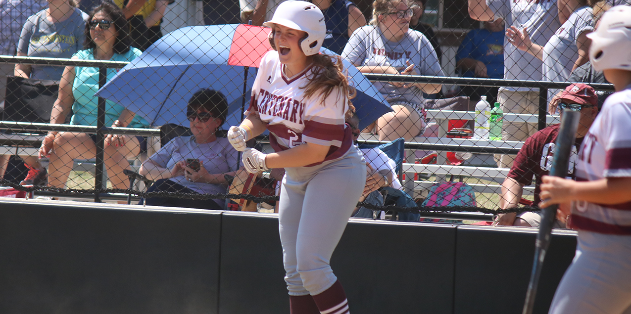 Centenary Defeats Trinity to Survive and Advance in SCAC Softball Tourney