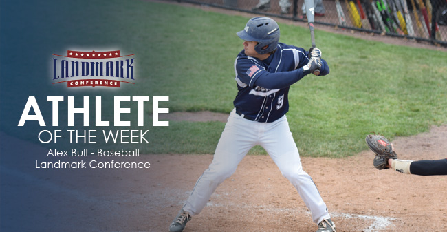 Bull Selected as Landmark Conference Baseball Athlete of the Week