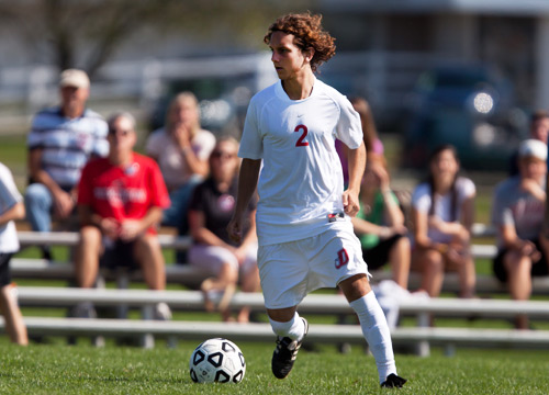 Javier Mena tallied three goals at W&J on Wednesday<BR>