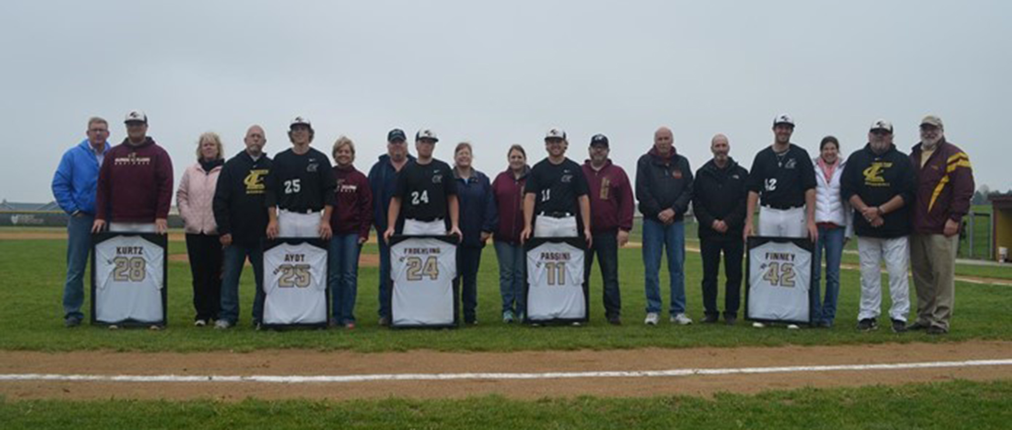 EC baseball takes two from Lincoln Christian on Senior Day