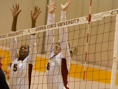 Arielle Goodson (#5) and Ashley Huntey (#8) have helped the Bulldogs win five of their last six matches to date.