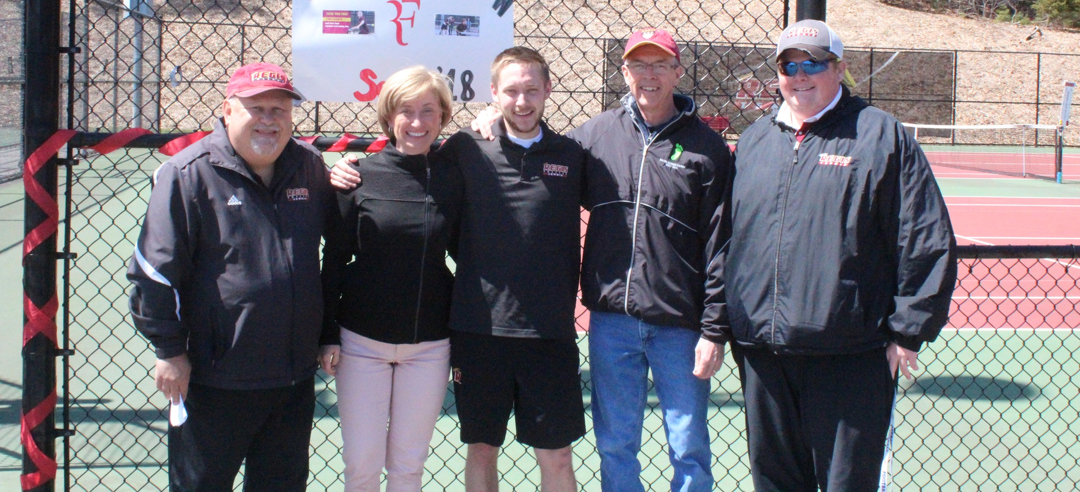 Men's Tennis Gets Past Johnson & Wales on Senior Day