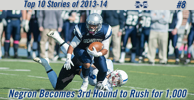 Top 10 Stories of 2013-14 - #8 Negron Becomes 3rd Hound to Rush for 1,000 Yards in a Season
