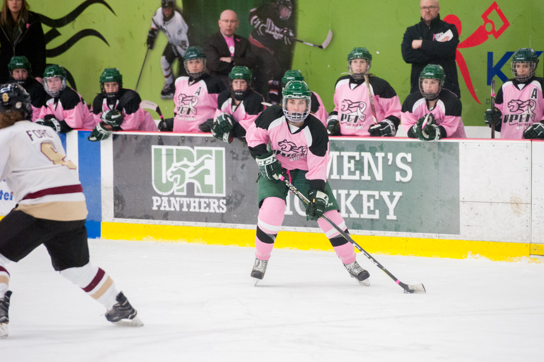 Panthers defeat Mounties on Pink the Rink Night