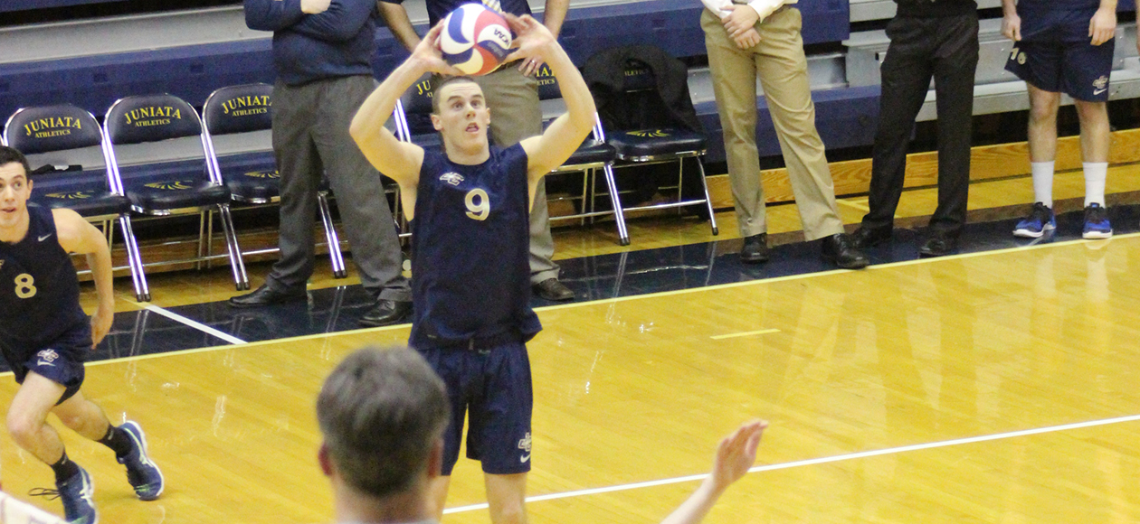 Michael Young tallied 30 assists and five digs against Wittenberg