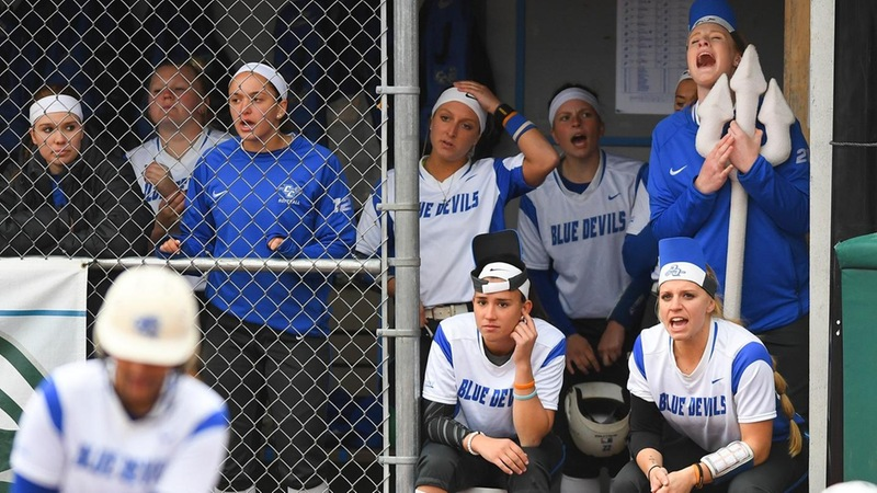 Sixth Inning Rally Halts Softball's NEC Tournament Run On Friday