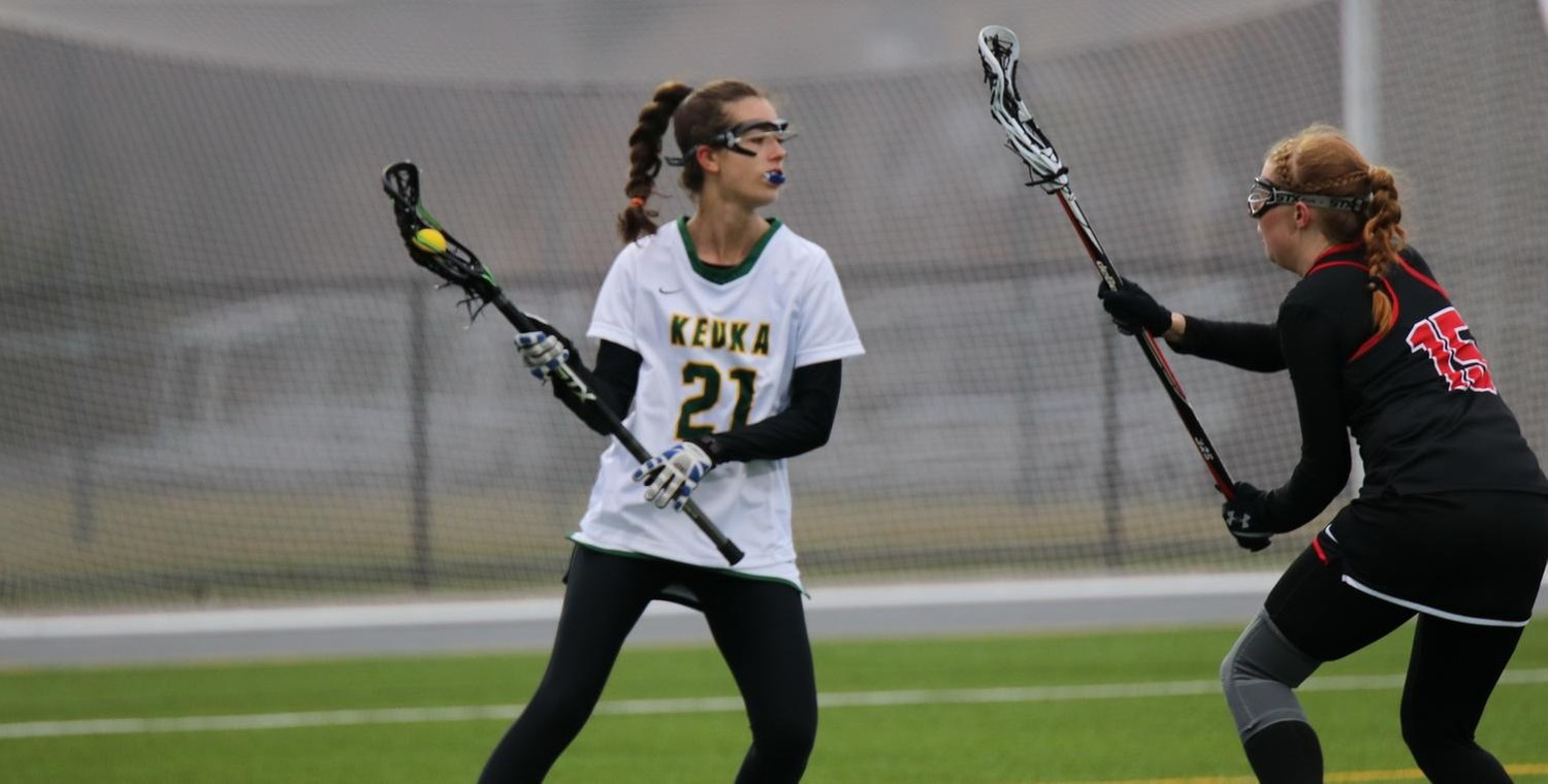 Brenna Voigt (21) scored five goals and added two assists for Keuka College on Saturday