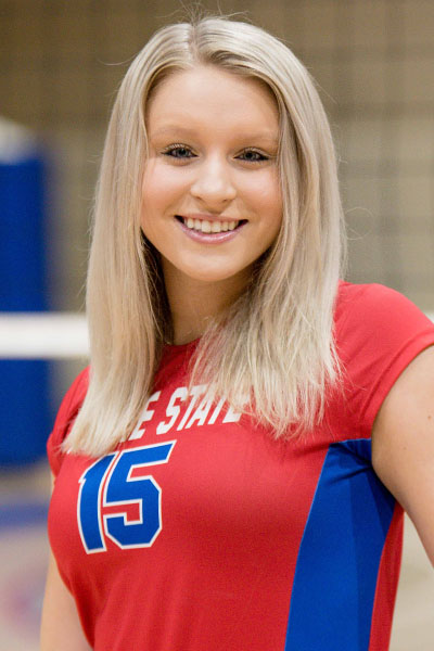 Sydney Smith,  Freshman OH/RS, Roane State, TCCAA Volleyball Player of the Week 3/5