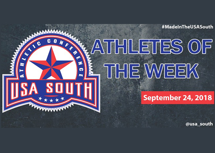 Porter and Jones chosen as USA South Athletes of the Week