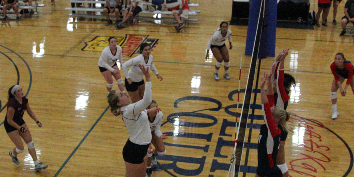 Nationally Ranked Viterbo Holds Off Evangel Volleyball