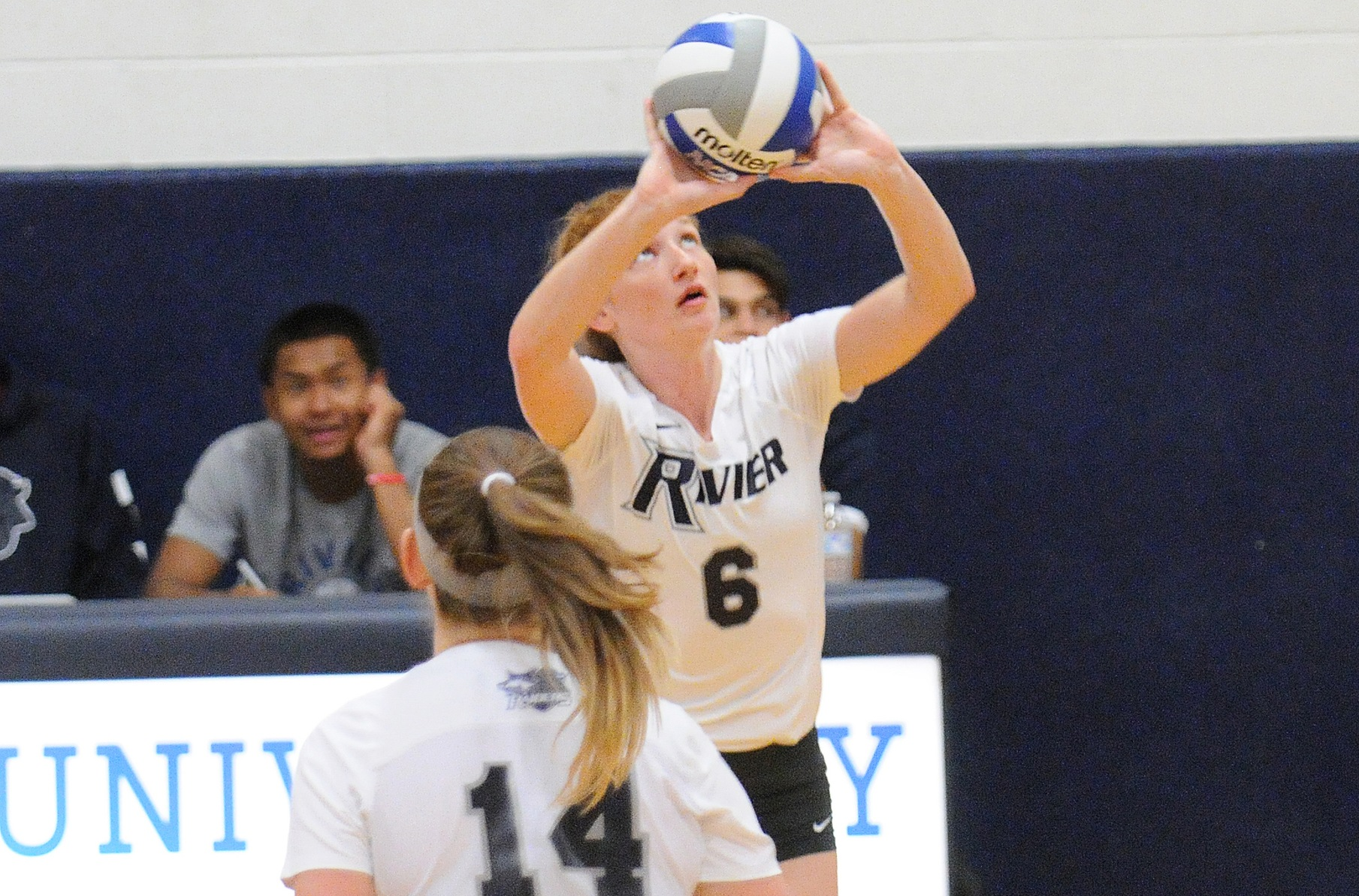 Women's Volleyball: Macken guides Raiders to a pair of 3-0 sweeps