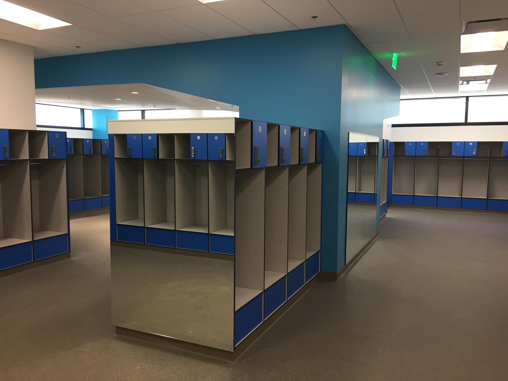 Football Team locker room Santa Monica College