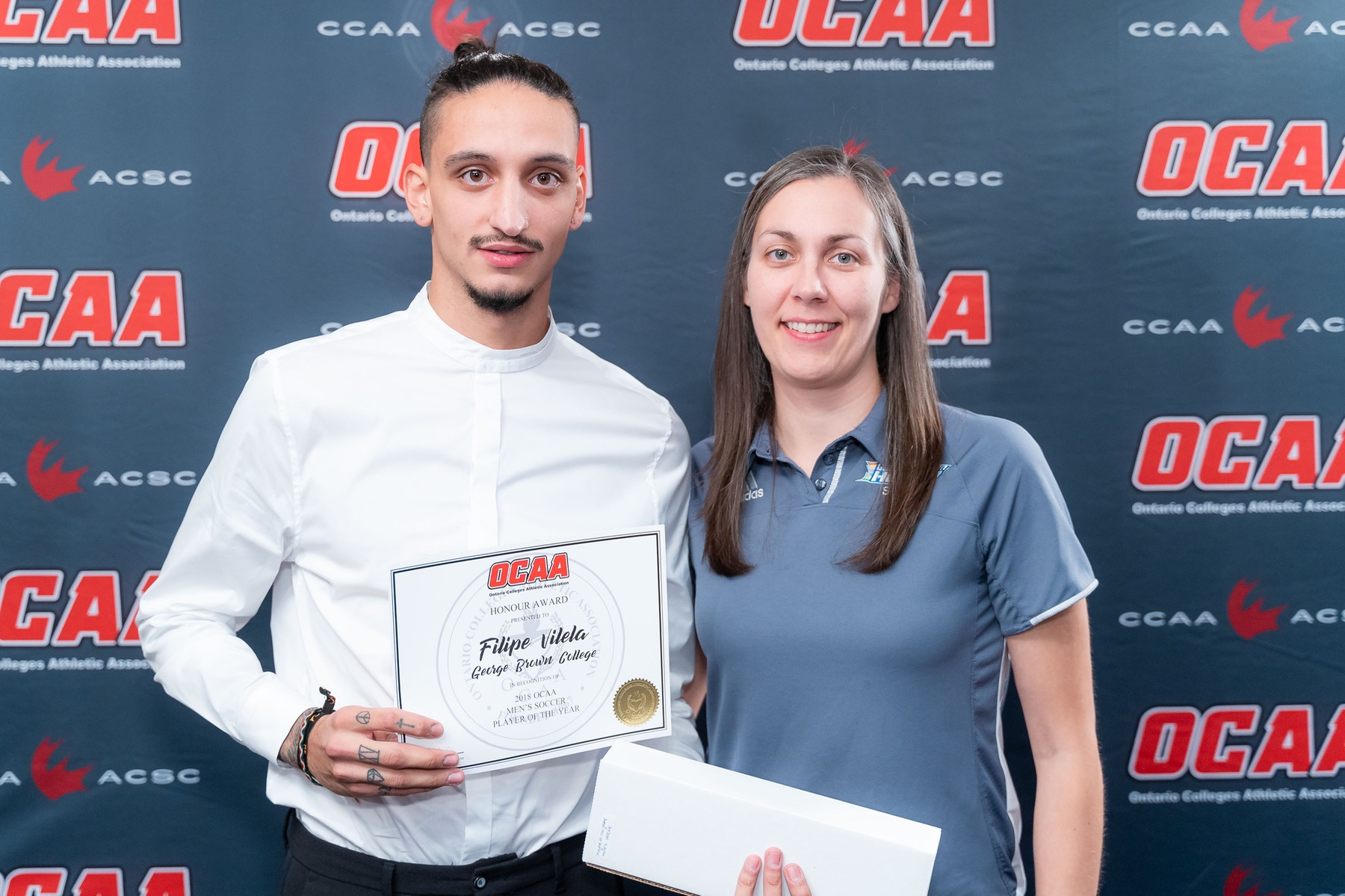 HUSKIES FILIPE VILELA NAMED OCAA PLAYER OF THE YEAR TO HIGHLIGHT AWARDS BANQUET