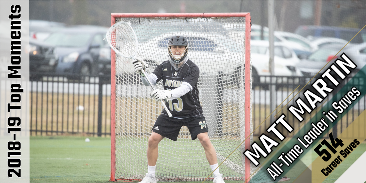 Top Moments of 2018-19: Matt Martin Becomes Men's Lacrosse All-Time Saves Leader